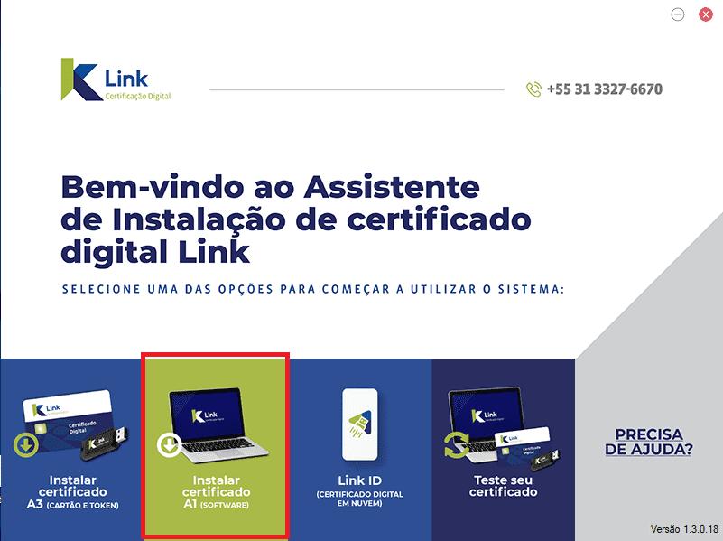 certificado digital instalação passo 2