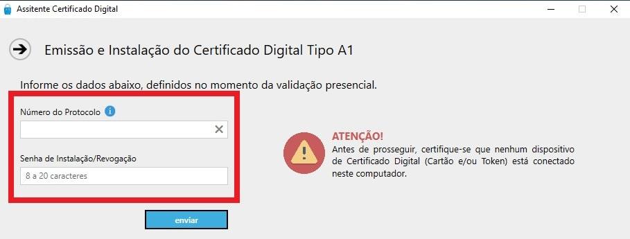 certificado digital instalação passo 3