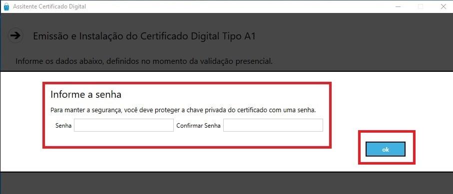certificado digital instalação passo 5