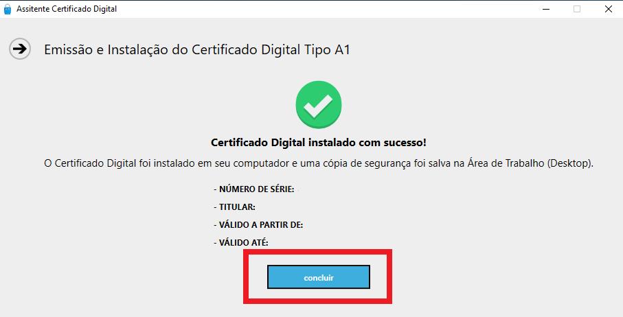 certificado digital instalação passo 7